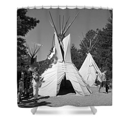 Tipis In Black Hills Shower Curtain by Matt Harang