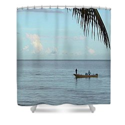 Tips Of Palms Shower Curtain