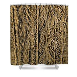 Tire Tracks Shower Curtain