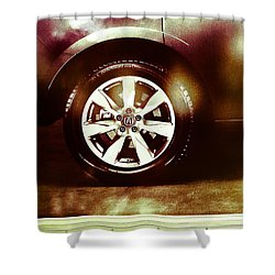 Tire Under The Moonlight Color Shower Curtain