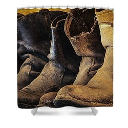 Tired Boots Shower Curtain