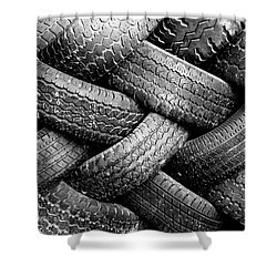 Tired Treads Shower Curtain