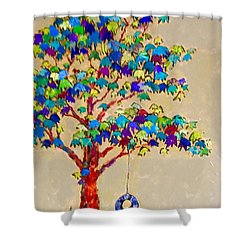 Tired Tree Shower Curtain
