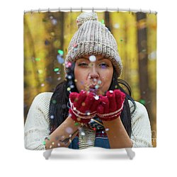 Shower Curtain featuring the photograph Tis The Season.. by Nina Stavlund
