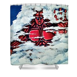 Titan Shower Curtain by Chris Benice