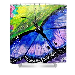 Titanium Butterfly Shower Curtain