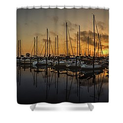 Titusville Marina Shower Curtain