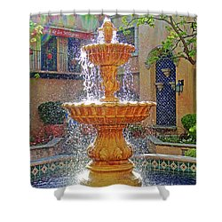 Tlaquepaque Fountain In Sunlight Shower Curtain