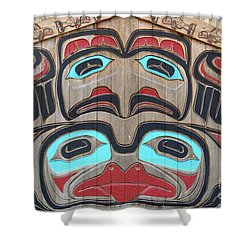 Tlingit Wall Panel Shower Curtain
