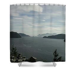 Tlupana Inlet Overlook Shower Curtain