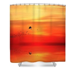 To Autumn Shower Curtain by Lourry Legarde