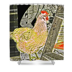 To Climb The Corporate Ladder . . . Shower Curtain by Gina O'Brien
