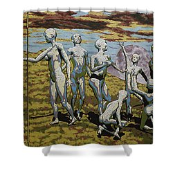 To Dance Shower Curtain by Leo Mazzeo