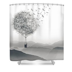 To Fly Only For A Moment Shower Curtain