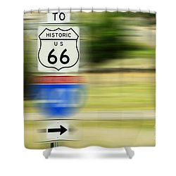 To Historic U.s. Route 66 Shower Curtain