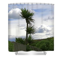 Shower Curtain featuring the photograph To Kouka Cabbage Tree by Nareeta Martin