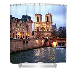 To Notre Dame Shower Curtain by John Rizzuto