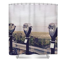To See The Sea Shower Curtain by Beth Saffer