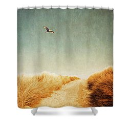 To The Beach Shower Curtain by Wim Lanclus