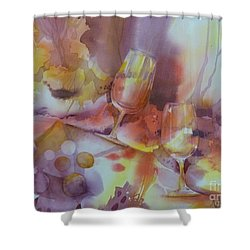To The Bottom Of The Glass Shower Curtain by Donna Acheson-Juillet