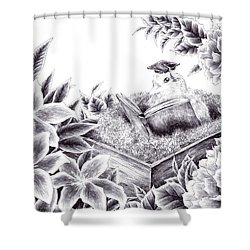 To The Future Shower Curtain