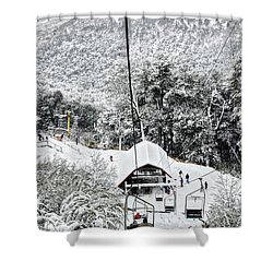To The Land Of Frozen Dreams In The Argentine Patagonia Shower Curtain
