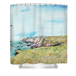 To The Lighthouse  Tribute To Virginia Woolf Shower Curtain