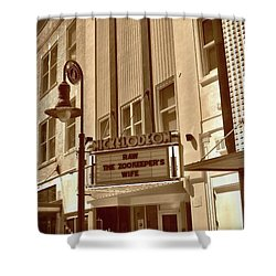 Shower Curtain featuring the photograph To The Movies by Skip Willits