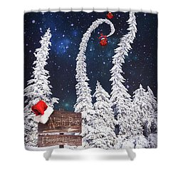 To The North Pole Shower Curtain