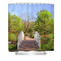 Shower Curtain featuring the photograph To The Other Side Of Spring by Angie Tirado