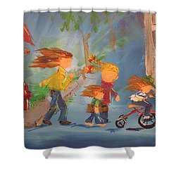 To The Park Shower Curtain