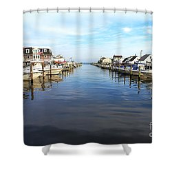 To The Sea At Lbi Shower Curtain by John Rizzuto