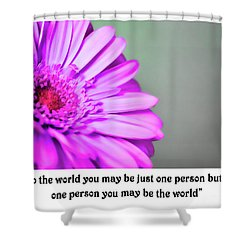To The World Shower Curtain