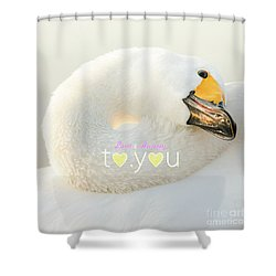 To You #001 Shower Curtain by Tatsuya Atarashi