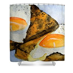 Toast And Eggs Shower Curtain