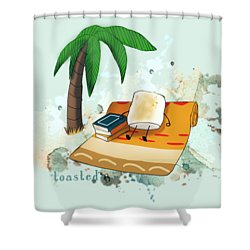 Shower Curtain featuring the digital art Toasted Illustrated by Heather Applegate