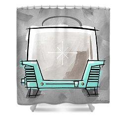 Toaster Aqua Shower Curtain