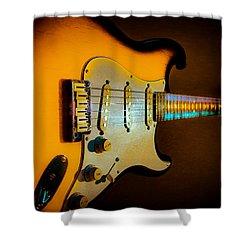 Tobacco Burst Stratocaster Glow Neck Series Shower Curtain