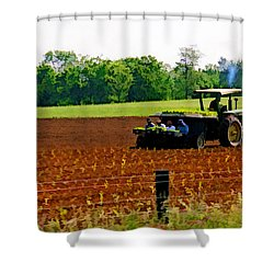 Tobacco Planting Shower Curtain