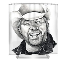 Toby Keith Shower Curtain by Murphy Elliott