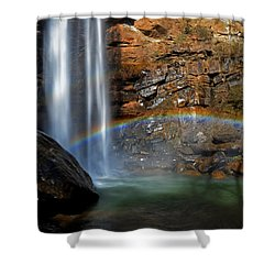Toccoa Falls Rainbow 001 Shower Curtain