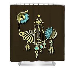 Tock Shower Curtain by Deborah Smith