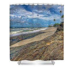 Toco Coastline Shower Curtain by Nadia Sanowar