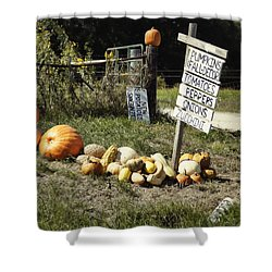 Shower Curtain featuring the photograph Today's Harvest by Cricket Hackmann