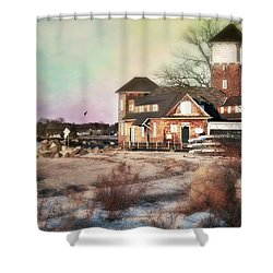 Tod's Point Beach House Shower Curtain