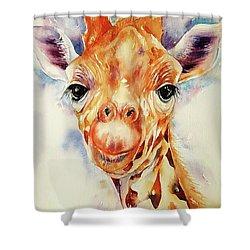 Toffee Giraffe Shower Curtain