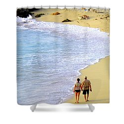 Together Alone Shower Curtain by Karen Wiles