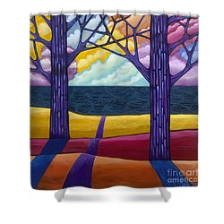 Shower Curtain featuring the painting Together Forever by Carla Bank