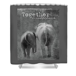 Shower Curtain featuring the photograph Together by Rebecca Cozart