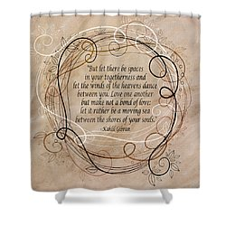 Shower Curtain featuring the digital art Togetherness by Angelina Vick